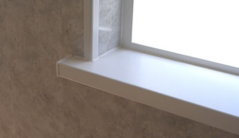Internal window sill cover